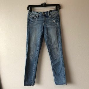 Paige Blue Denim Skinny Jeans